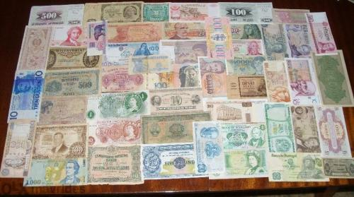 50 pcs Europe banknotes-1926-2000