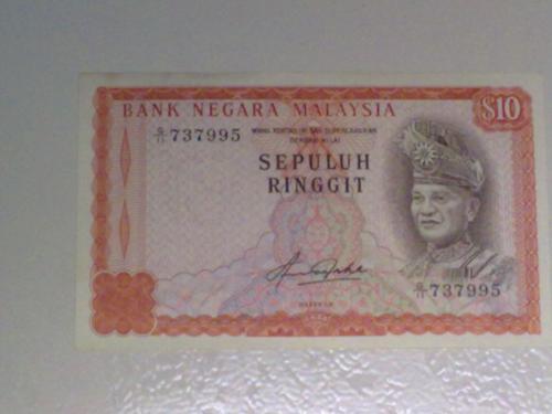 Malaysia $10 Jaafar Hussain banknote