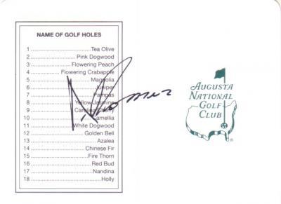 Andres Romero autographed Augusta National Masters scorecard