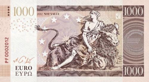 1000 Euro 2012, RRRR, Uncirculated , Private, Essai, Trial, Test Note