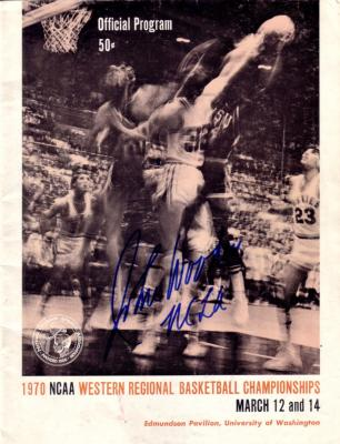 John Wooden autographed UCLA 1970 NCAA Tournament program