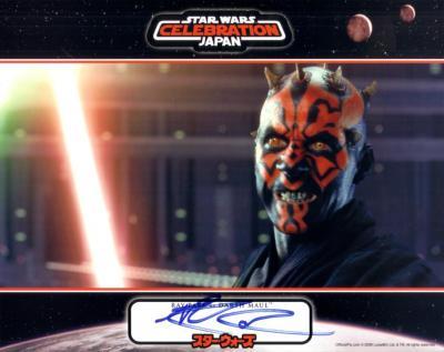 Ray Park autographed Star Wars Darth Maul 8x10 photo