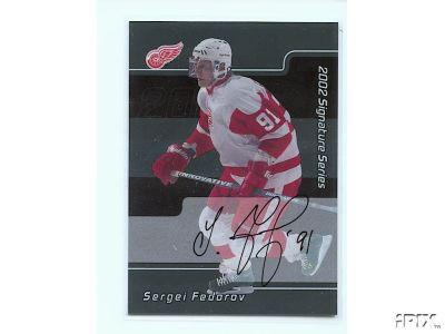 Sergei Fedorov certified autograph Detroit Red Wings Be A Player card