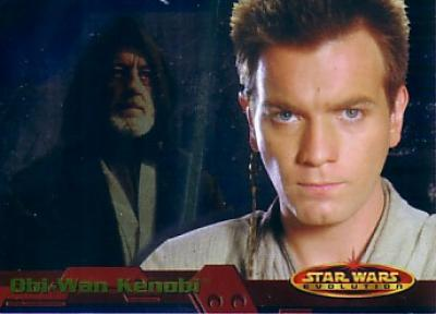Star Wars Evolution 2001 Topps promo card P2 (Obi-Wan Kenobi)