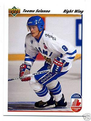 Teemu Selanne 1991-92 Upper Deck Rookie Card #21 MINT