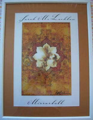 Sarah McLachlan autographed Mirrorball lithograph matted & framed