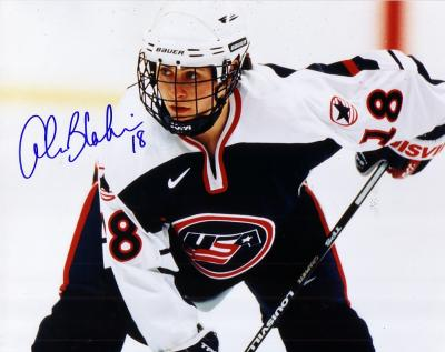Alana Blahowski autographed 1998 USA Hockey 8x10 photo