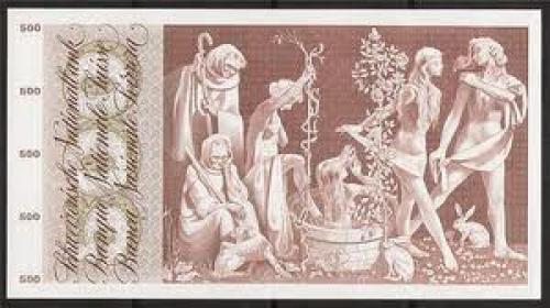 Bank of Switzerland 500 franken banknote