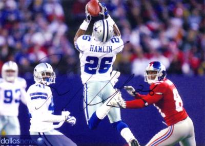 Ken Hamlin autographed Dallas Cowboys 5x7 photo