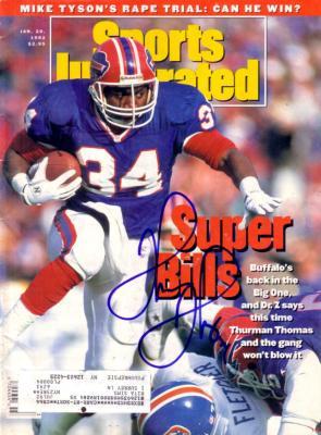 Thurman Thomas autographed Buffalo Bills 1992 Sports Illustrated