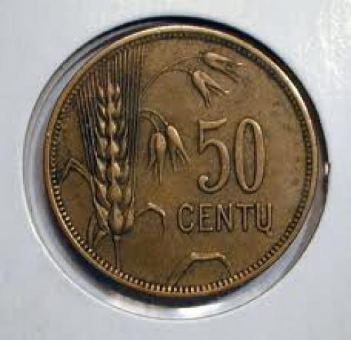Coins;Lithuania ~ 50 Centu (reverse) ~ 1925. Medal and Coin