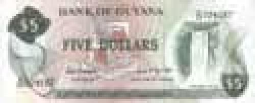 5 Dollars; Guyana banknotes