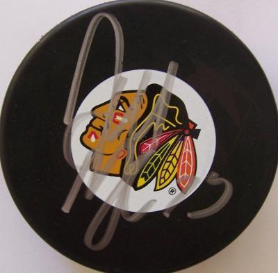 Dustin Byfuglien autographed Chicago Blackhawks puck