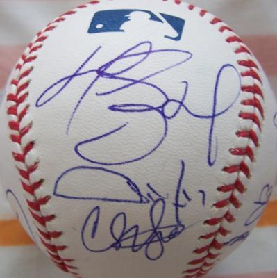 2009 Los Angeles Dodgers team autographed baseball Andre Ethier Matt Kemp Manny Ramirez