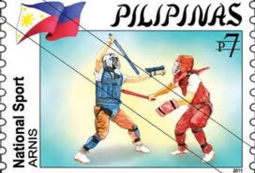 7 Pesos; Philippine stamps; Philippines Arnis Martial Arts