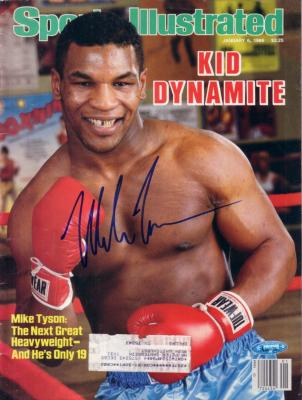 Mike Tyson autographed 1986 Sports Illustrated