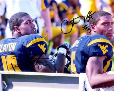Steve Slaton & Pat White autographed West Virginia 8x10 photo