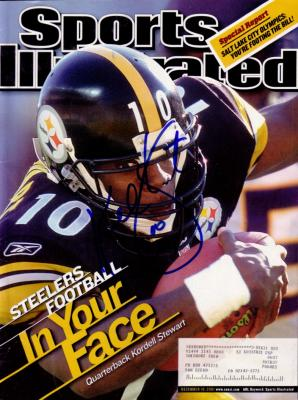 Kordell Stewart autographed Pittsburgh Steelers 2001 Sports Illustrated