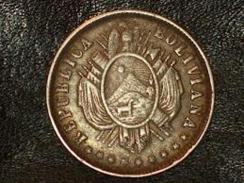 Coins; BOLIVIA 1 MELGAREJO 1865 CROWN 1 YEAR TYPE SILVER COIN