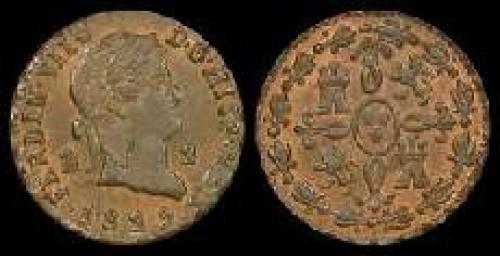 2 maravedis 1816-1833 (km 487)