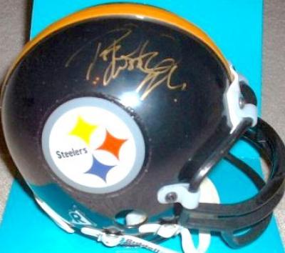 Rod Woodson autographed Pittsburgh Steelers mini helmet