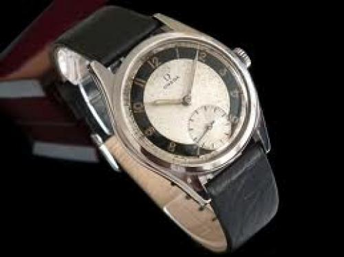 Watches; 1950s Omega gents steel vintage watch