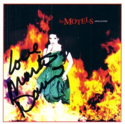 Martha Davis autographed The Motels Apocalypso CD booklet
