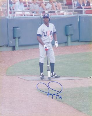 Jacque Jones autographed 1996 USA Olympic Baseball Team 8x10 photo