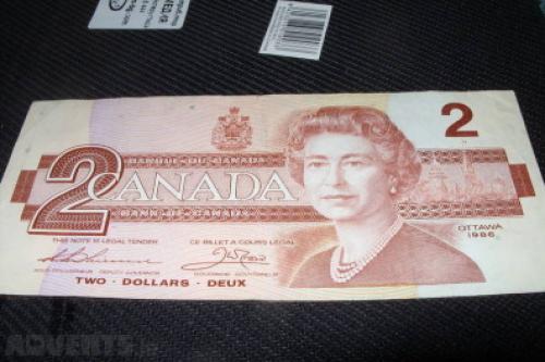 Canada 2 dollar-1986