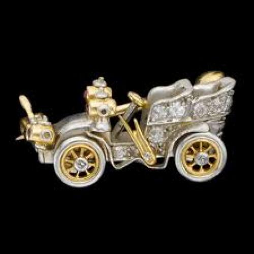 Jewelry; Vintage Car Brooch design