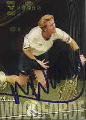Mark Woodforde autographed 2000 ATP Tour tennis card