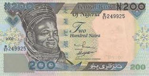 BANKNOTES OF NIGERIA; 200 Naira
