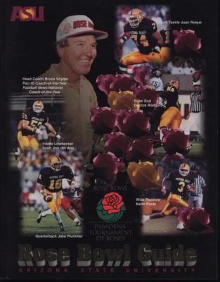 1997 Arizona State Rose Bowl Media Guide (Jake Plummer Pat Tillman)