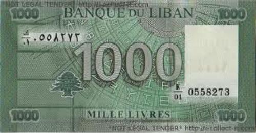 Banknotes; Lebanon 1000 Livre 2011 front image