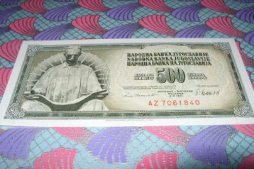 Yugoslavia - 500 Dinars 1981