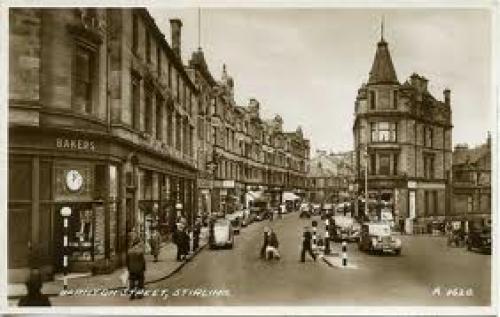 Postcard Scotland; Images of Scotland Barnton Street Stirling Postcard c1940
