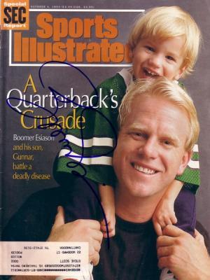 Boomer Esiason autographed New York Jets 1993 Sports Illustrated