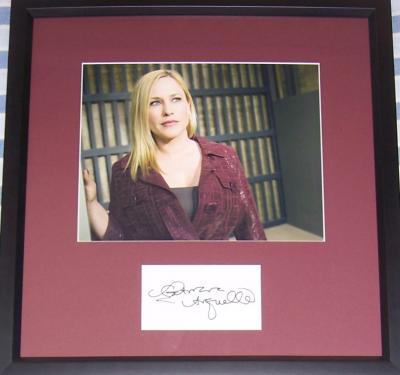 Patricia Arquette autograph framed with 8x10 Medium photo