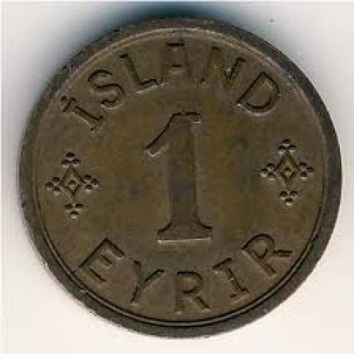 Coins;  Iceland, 1 eyrir, 1940–1942