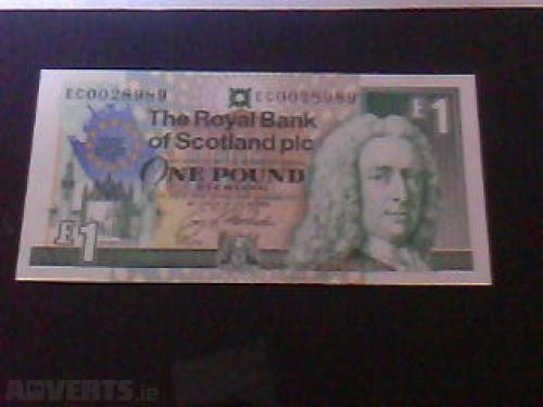 1 Pound Scottish Banknote Uncirculated UNC-1992