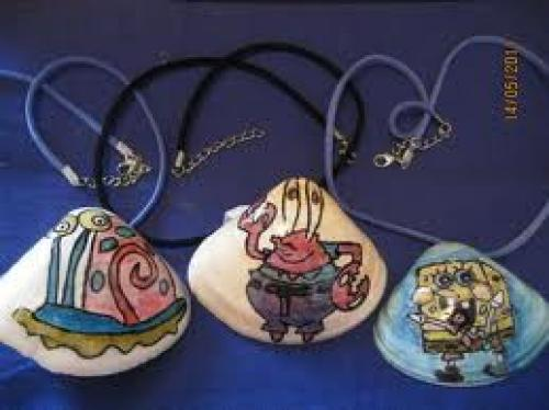 Crafts;  Handmade Painted Shells &amp; Necklaces