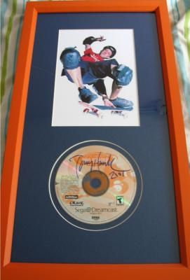 Tony Hawk autographed Pro Skater CD matted & framed with 5x7 photo