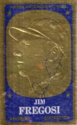 Jim Fregosi autographed Angels 1965 Topps Embossed card