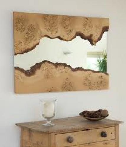 Decorative; Wooden Mirror