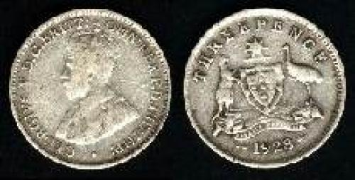 3 pence; Year: 1911-1936; (km 24)