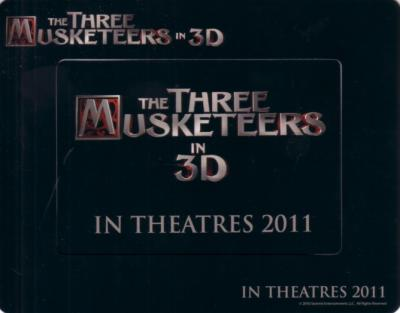 Three Musketeers in 3D movie 2010 Comic-Con promo fridge magnets