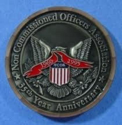 Coins;  NCOA 1960 1995 35th Anniversary USA USN USAF 