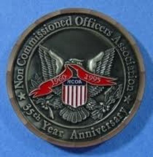 Coins;  NCOA 1960 1995 35th Anniversary USA USN USAF