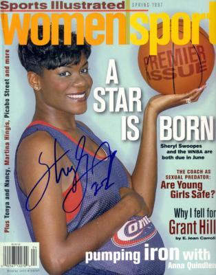 Sheryl Swoopes autographed Houston Comets 1997 Sports Illustrated WomenSport magazine