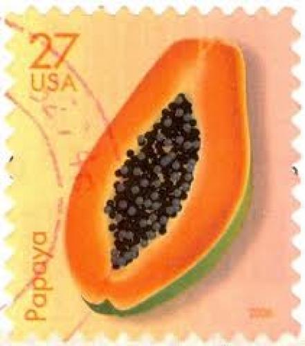 Stamps; 27 cents; Papaya; USA Stamps